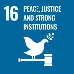 Group logo of Peace, Justice and Strong Institutions